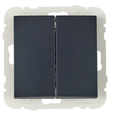 Włącznik schodowy PODWÓJNY LOGUS 90  Czarny  EFAPEL