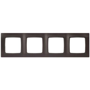 Ramka poczwórna KARO  czekoladowy metalik  OSPEL