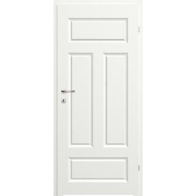 Skrzydło drzwiowe łazienkowe pełne z podcięciem wentylacyjnym Morano I Białe 60 Prawe Classen