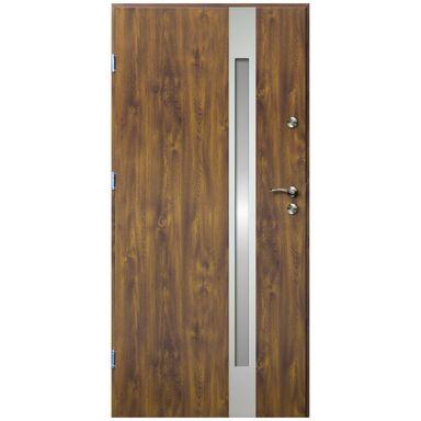 Drzwi wejściowe VERTE II Złoty dąb 90 Lewe OK DOORS TRENDLINE