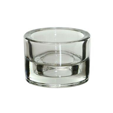 Świecznik szklany Duo wys. 5.8 cm transparentny