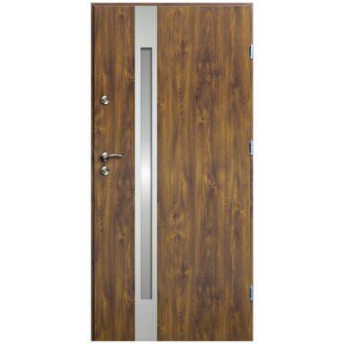 Drzwi wejściowe VERTE II Złoty dąb 90 Prawe OK DOORS TRENDLINE