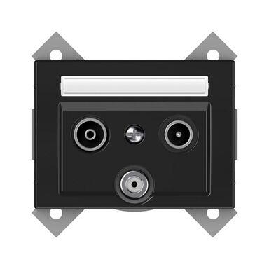 Gniazdo multimedialne VILMA TVL/KLRJ45-15e2-02STEEL STALOWY DPM