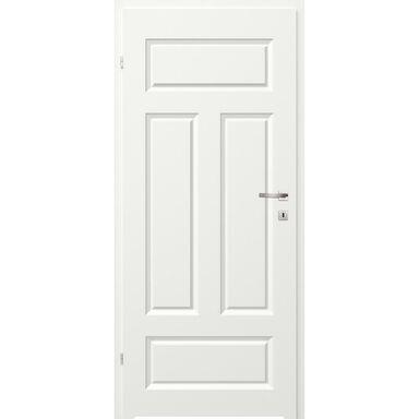 Skrzydło drzwiowe łazienkowe pełne z podcięciem wentylacyjnym Morano I Białe 80 Lewe Classen