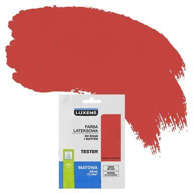 Tester farby DO ŚCIAN I SUFITÓW 25 ml Czysta czerwień LUXENS