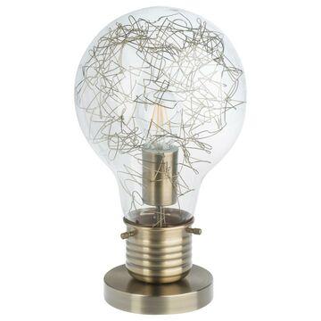 Lampa stołowa BOMBILLA mosiądz E27 INSPIRE