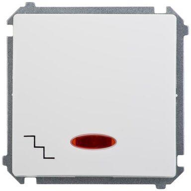 Włącznik pojedynczy schodowy z podświetleniem BASIC biały SIMON