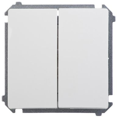 Włącznik schodowy podwójny BASIC  biały  SIMON