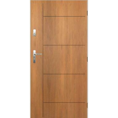 Drzwi zewnętrzne stalowe Panama dąb winchester 80 prawe Pantor