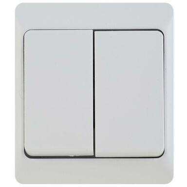 Włącznik podwójny IP44 HERMES  Biały  ELEKTRO-PLAST