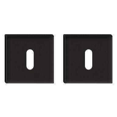 Rozeta podklamkowa pod klucz FORTUNA Kwadratowa Czarny mat