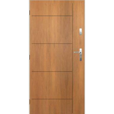 Drzwi zewnętrzne stalowe Panama dąb winchester 80 Lewe Pantor