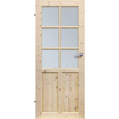 Skrzydło drzwiowe pokojowe drewniane LONDYN LUX 80 Lewe RADEX