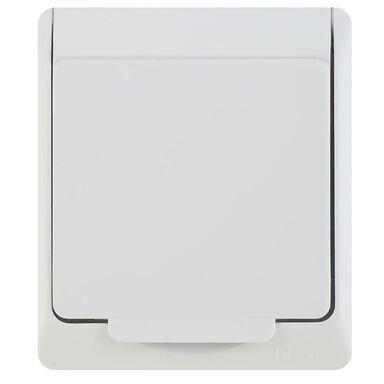 Gniazdo pojedyncze 2P+Z HERMES  Biały  ELEKTRO - PLAST