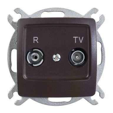 Gniazdo RTV końcowe KARO  czekoladowy metalik  OSPEL