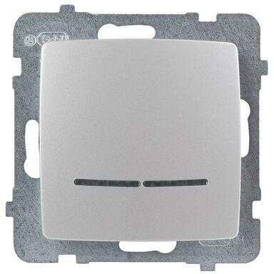 Włącznik pojedynczy z podświetleniem KARO  perłowy  OSPEL
