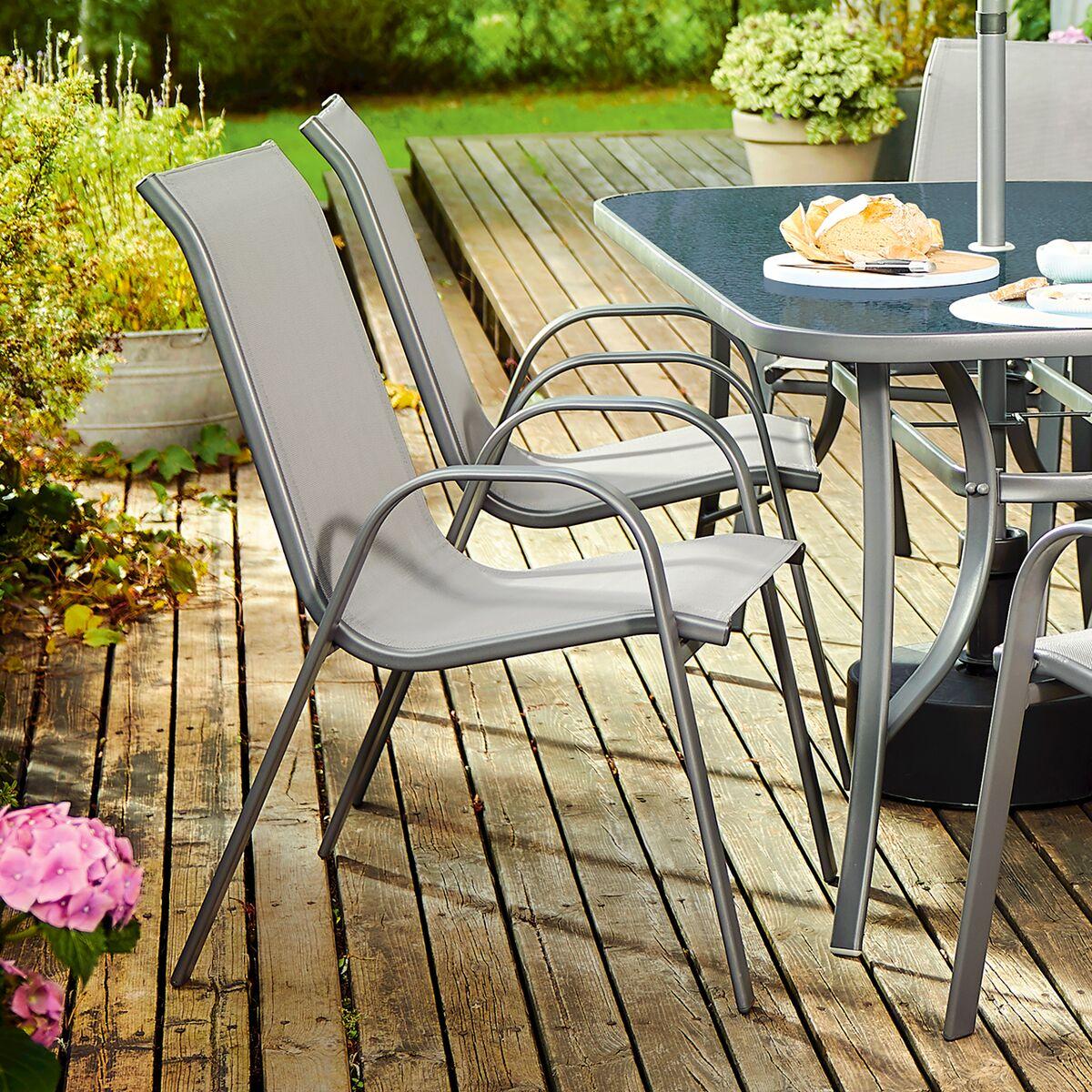 Krzeslo Ogrodowe Cino Metalowe Antracytowe Krzesla Fotele Lawki Ogrodowe W Atrakcyjnej Cenie W Sklepach Leroy Merlin