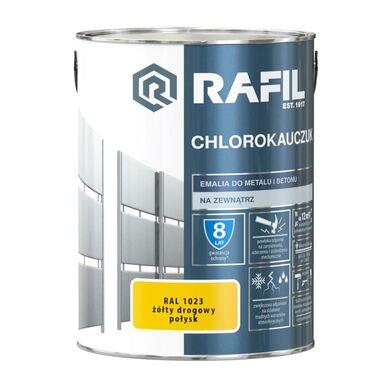 Emalia do metalu i betonu CHLOROKAUCZUK 5 l Żółty drogowy RAL 1023 RAFIL