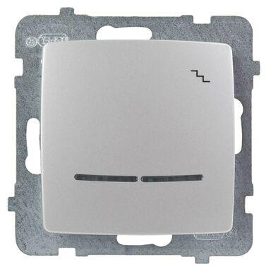 Włącznik schodowy Z PODŚWIETLENIEM KARO Srebrny OSPEL