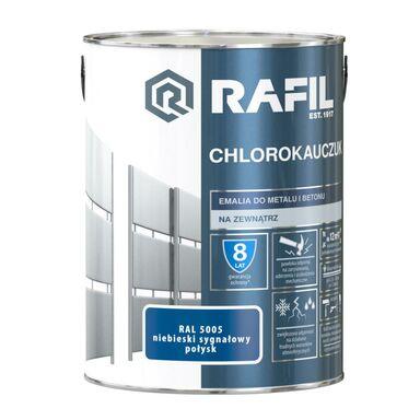 Emalia do metalu i betonu CHLOROKAUCZUK 0.9 l Niebieski sygnałowy RAL 5005 RAFIL