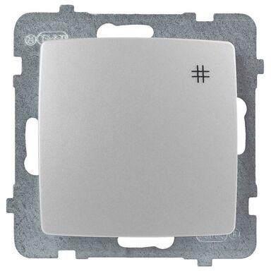 Włącznik krzyżowy KARO  Srebrny  OSPEL