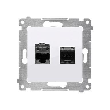 Gniazdo komputerowe podwójne SIMON 54  biały  KONTAKT SIMON
