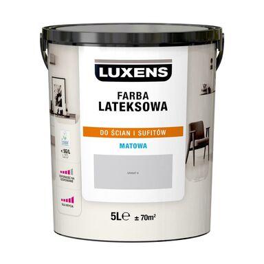 Farba wewnętrzna LATEKSOWA 5 l Granit 6 LUXENS