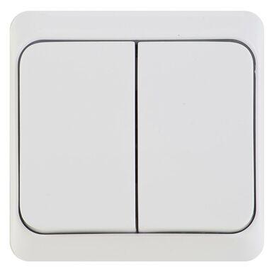 Włącznik podwójny z podświetleniem PRIMA  Biały  SCHNEIDER ELECTRIC