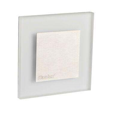 Oprawa schodowa APUS 7.5 cm srebrna kwadratowa LED barwa ciepła KANLUX