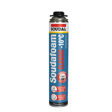 Pianka poliuretanowa pistoletowa SOUNDFOAM CLASSIC DO -10°C 750 ml SOUDAL