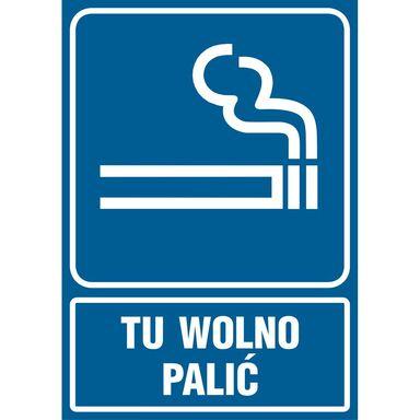 Znak informacyjny TU WOLNO PALIĆ