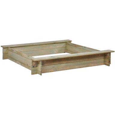 Piaskownica drewniana 120 x 120 x 19.5 cm z ławeczkami BASIC SOBEX