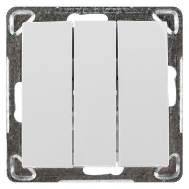 Włącznik potrójny IMPRESJA  biały  OSPEL