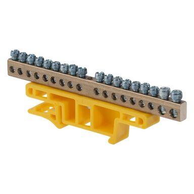 Listwa zaciskowa na szynę TH 35 do przewodów uziemiających 0922 - 01 ELEKTRO - PLAST