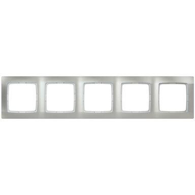 Ramka pięciokrotna KARO  Srebrny  OSPEL