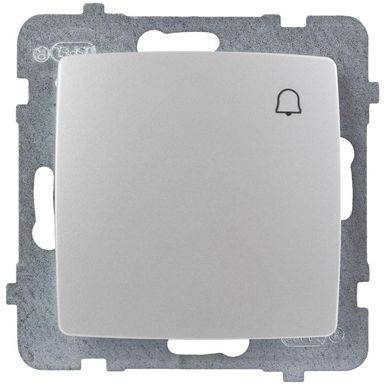 Przycisk do dzwonka KARO  perłowy  OSPEL