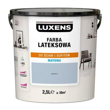 Farba wewnętrzna LATEKSOWA 2.5 l Saphir 6 LUXENS