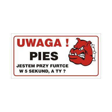 Znak informacyjny UWAGA PIES