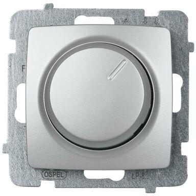 Ściemniacz przyciskowo-obrotowy KARO Srebrny OSPEL