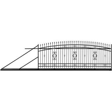 Brama przesuwna z automatem VERONA 400 x 140 cm lewa POLBRAM
