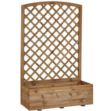 Donica Ogrodowa 40 X 90 X 1416 Cm Drewniana Z Kratką Brązowa Nive Naterial