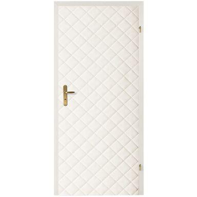 Tapicerka drzwiowa karo 10x10 biały T3K10-BI szer. 105  wys. 210 cm
