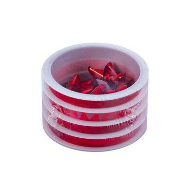 Wstążka dekoracyjna 200 cm 4 szt. czerwona