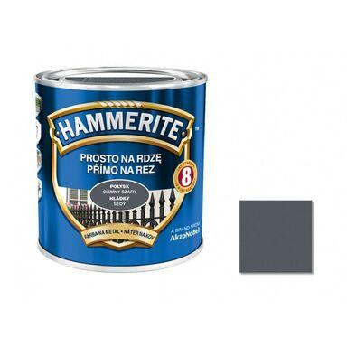Farba antykorozyjna PROSTO NA RDZĘ 0.25 l Szary Połysk HAMMERITE
