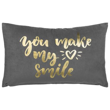 Poduszka SMILE szara 50 x 30 cm INSPIRE