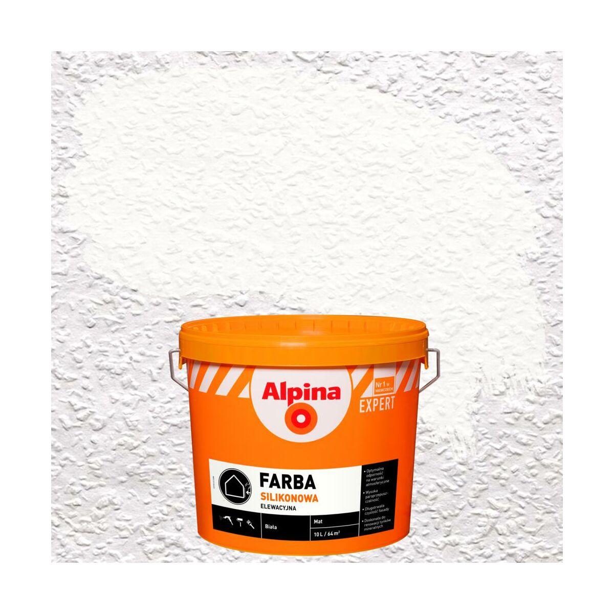 Farba Elewacyjna Silikonowa Bialy Alpina Expert Farby Fasadowe W