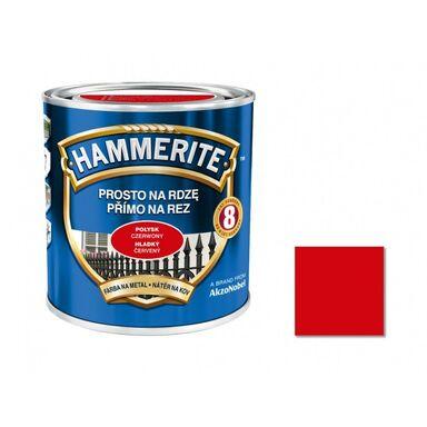 Farba antykorozyjna PROSTO NA RDZĘ 0.7 l Czerwony Połysk HAMMERITE