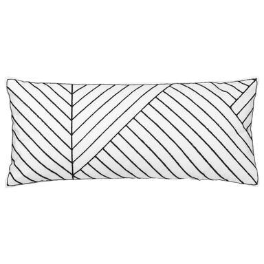 Poduszka ALECTO czarna 70 x 30 cm INSPIRE