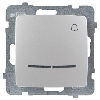 Przycisk do dzwonka podświetlany KARO  perłowy  OSPEL