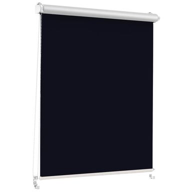 Roleta zaciemniająca Silver Click 113.5 x 150 cm czarna termoizolacyjna